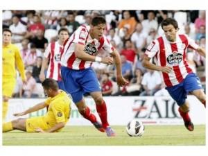 Mauro Quiroga durante un partido con el Lugo / lavozdegalicia.com