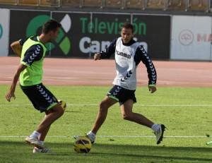 Imagen de un entrenamiento durante la presente temporada.