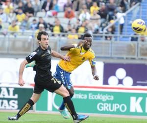 Chrisantus no estuvo acertado de cara al gol / Samuel Sánchez (udlaspalmas.net)