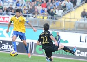 Vitolo marcó su noveno gol de la temporada / Samuel Sánchez (udlaspalmas.net)