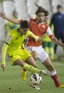 Sergio Suárez jugó noventa minutos ante el Racing de Santander / Web oficial Mirandés