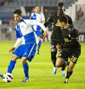Hernán, en el encuentro ante el Sabadell / El 9 Esportiu