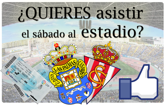 Sorteo de dos entradas para asistir al UD Las Palmas – Sporting