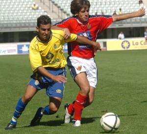 Nauzet Alemán, en un partido en Segunda División B / Canarias7