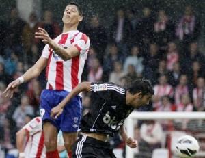 Mauro Quiroga, autor de los dos goles / Pedro Agrelo (lavozdegalicia.es)