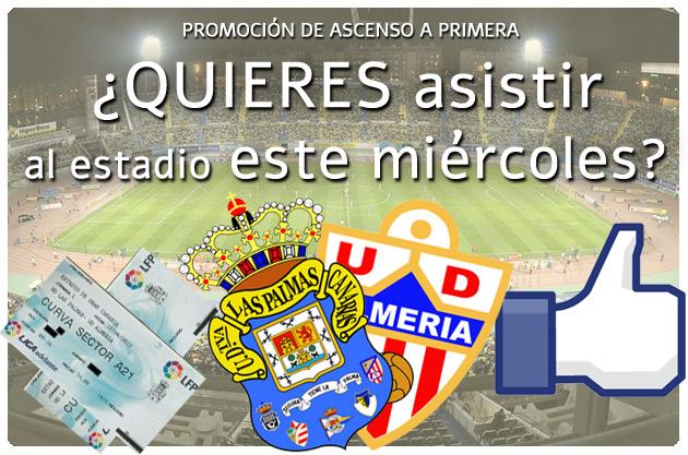 Sorteo de dos entradas para asistir al UD Las Palmas – Almería