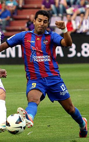 Ángel Rodríguez, con la camiseta del Levante