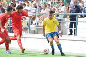 Alejandro Rodríguez, en su primer partido de la temporada / Samuel Sánchez (udlaspalmas.net)