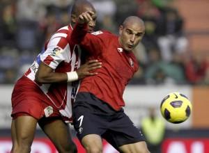 Carlos Aranda, durante su etapa en el Osasuna