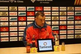 Javi López, en sala de prensa / Web oficial Girona.