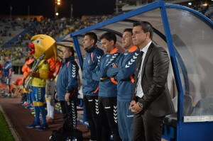 Sergio Lobera no reaccionó ante la falta de efectividad del equipo / udlaspalmas.net