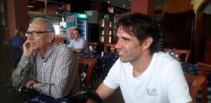 Valerón junto a Germán Dévora este viernes / Radio Marca