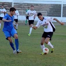 Borja Herrera, en una acción con el Tudelano