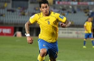 Sergio Araujo en su primer partido oficial con la Unión Deportiva / Toño Suárez (udlaspalmas.net)