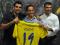 Culio, junto al gerente del club La Cornisa y Nico Rodríguez / udlaspalmas.net