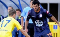 Culio, en su debuta en la Segunda División ante la Unión Deportiva Las Palmas / La Voz de Galicia