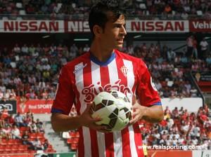 Luis Hernández en un partido de la presente temporada / Real Sporting de Gijón.