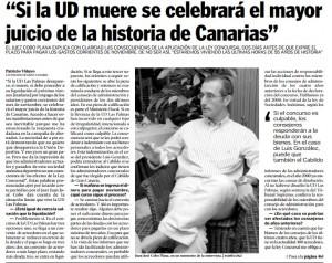 Ejemplar del periódico La Provincia con fecha de 9 de diciembre de 2004 con el famoso titular (click para ampliar)