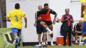 Michel Macedo disputó los primeros minutos junto a sus nuevos compañeros. | Foto: UD Las Palmas.