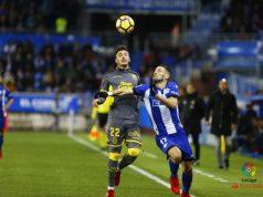Ximo Navarro en el partido frente al Alavés