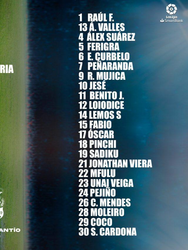 Lista de convocados para Burgos